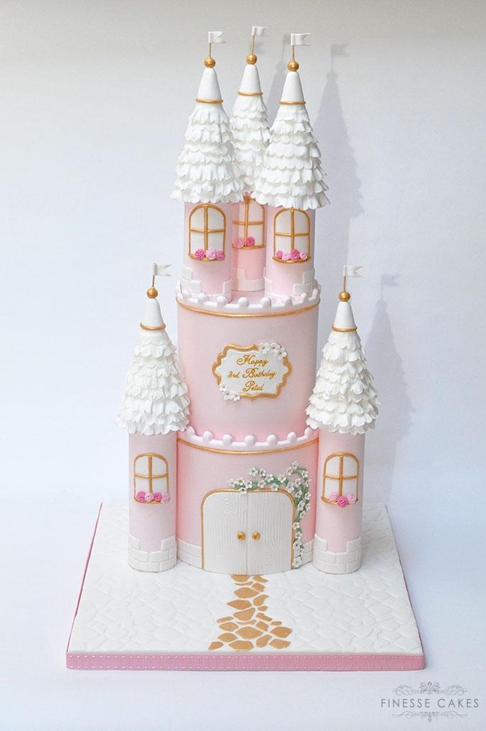 Princess castle cake 2 tier essex birthday cake maker