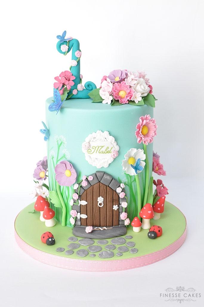 fairy door birthday cake 1st birthday girls cake maker essex southend brentwood